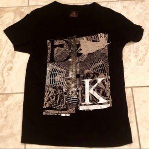 Men's Zara Dark Couture V-neck T-shirt